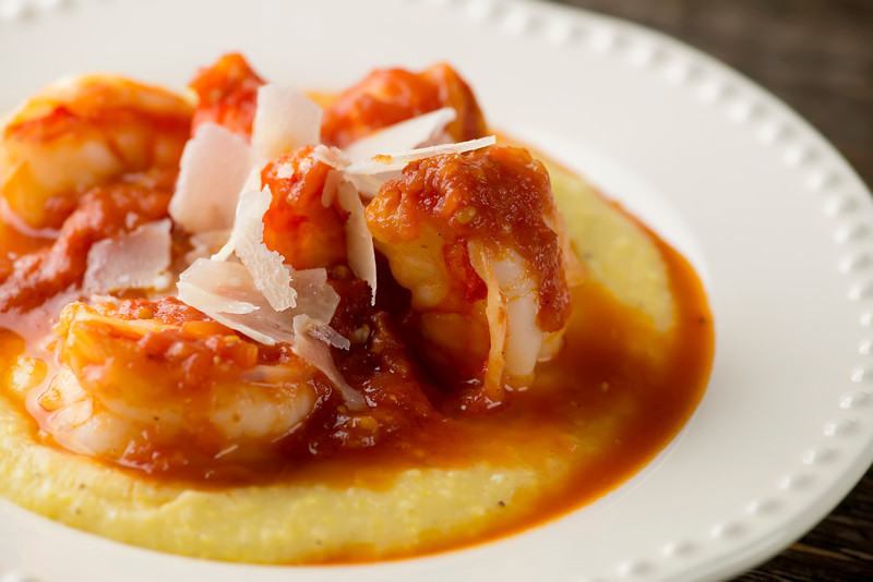Shrimp Marinara with Polenta