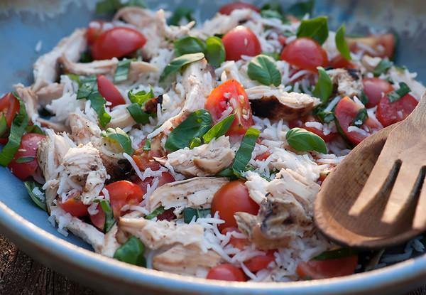 Summer Chicken Rice Salad