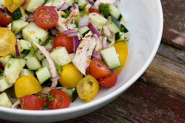 Gazpacho Chicken Salad
