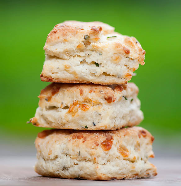 Chive and Cream Cheese Biscuits