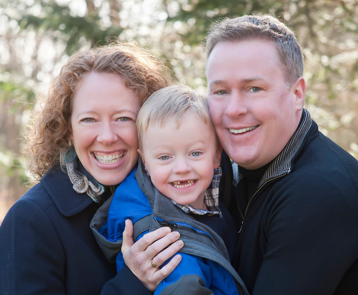 Billy, Colleen and Liam, December 2013