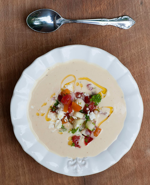 chilled hummus soup