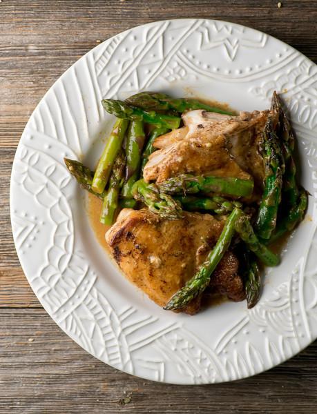 easy mustard asparagus chicken