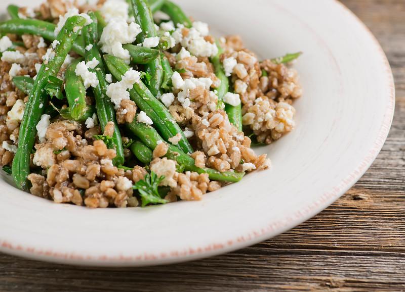 Warm Green Bean And Farro Salad Framed Cooks