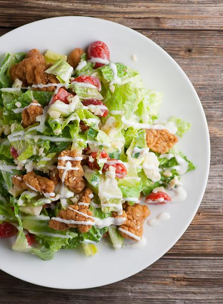 shortcut fried chicken salad