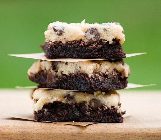 how to make cookie dough topped brownies