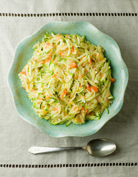 cheddar vegetable orzo