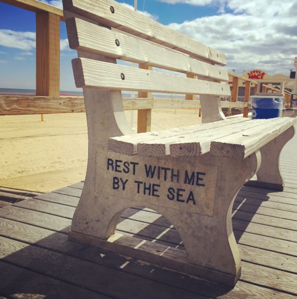 Jersey shore bench