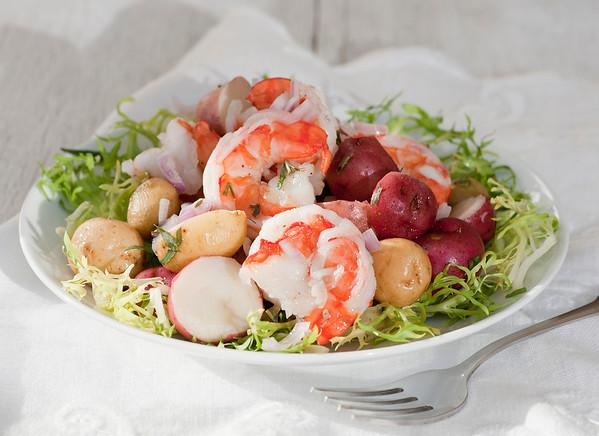 easy shrimp and new potato salad
